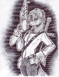 starbound fanart by ashtinwolf