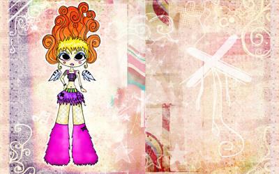 Wallpaper trashy doll by MilkyBerry