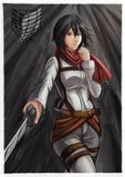 Mikasa Ackerman by animao89