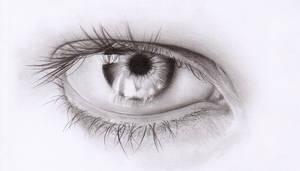 Eye drawing by Sinima
