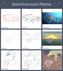 Switcharound Meme With Absbor-K and SageCamille by PikachuJenn