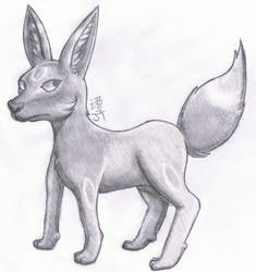 Umbreon Doodle by PikachuJenn