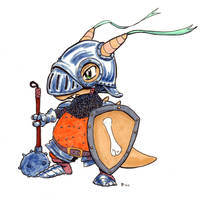 Pokemon Medieval Cubone by OcioProduction