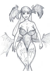 Friendly Morrigan DS   sketch by OcioProduction