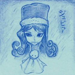 Juvia random sketch by OcioProduction