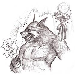 Basic Instinct werewolf by OcioProduction