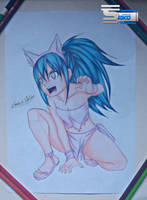 Wendy Marvell - Fairy Tail Drawing by TheSaikoOF