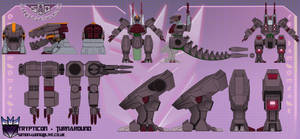 Trypticon 2.0 (SB II) turnaround by Tf-SeedsOfDeception