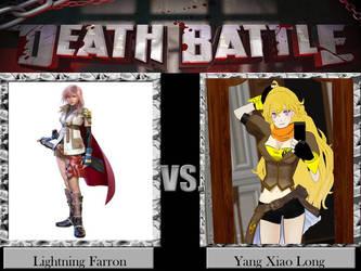 Death Battle Lightning Farron vs Yang Xiao Long by jss2141