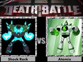 Death Battle Shock Rock vs Atomix by jss2141
