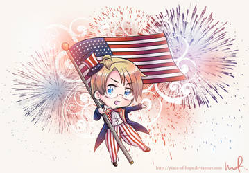 Happy Birthday, America by peace-of-hope