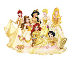Disney Princesses Gold by ShouYume