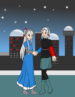 Altair-tan and IMSAI-tan by Kattlanna