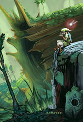Lost Woods Zelda Fan Art by KRMayer
