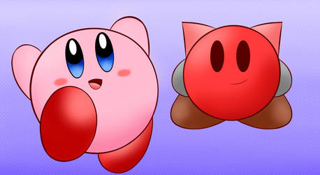 Gift 1- Kirby and Spike by Chino-Spike