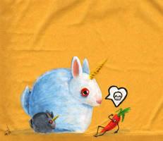 Bunny unicorn by FrealaF