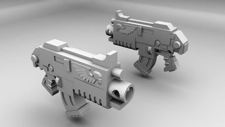 Warhammer 40K Bolter Gun 3D Model by TheRyderShotgun