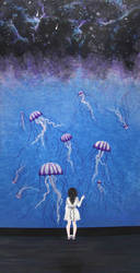 Dreaming of Jellyfish and the Milky Way by Aenglestern