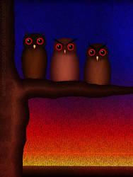 The Owls, Flocking Owls contest by Erwanna-Dragony