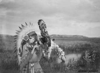 Native American Anime by deviantpringle