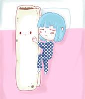 Aoi y Daki-burrito by NamiCute
