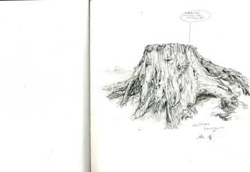 A tree stump by Saipha