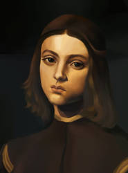 Portrait Of A Boy Study by audiino