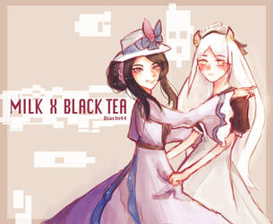 Black Tea X Milk Fanart [Food Fantasy] by Diachi44