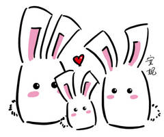 Bunny Family by kyupi