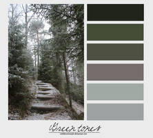 Green tones. {Palette} by MiliDirectionerJB