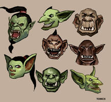 Orcs, Ogres, Goblins by Tom-Cii