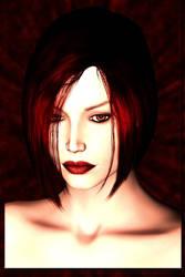 Portrait in Red by brokenangel