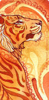 Tiger bookmark by wolf-minori