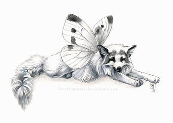 Sleepy butterfly by wolf-minori