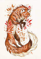 Autumn Fox by wolf-minori