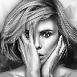 Charlize Theron Drawing by JoeDieBestie