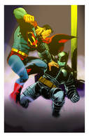 Superman vs the Dark Knight by TMD2008