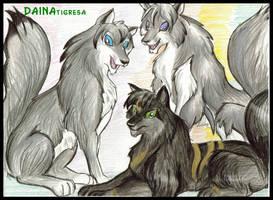 wolves by TigresaDaina