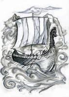 Viking Ship by Willowsmummy