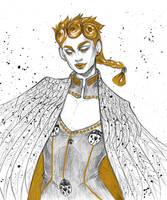 golden bird by kettaryfox