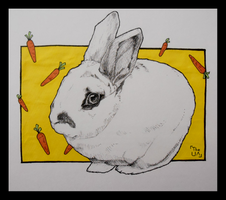 RGD 32/Inktober 20 - Fluffiness and Carrots by TheUnconfidentArtist