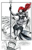 Two Sketch 52: WarAngel Pinup by Shono