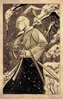 Heroes Con 2014: Usagi Yojimbo parchment by Shono
