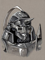 SOLD OUT: ALPHONSE ELRIC ORIGINAL ART by Shono