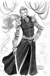 INKTOBER DAY 28: Final Fantasy V: Faris Scherwiz by Shono