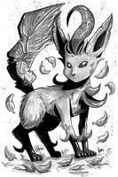 Inktober 2016 - Day 12: Leafeon by Shono