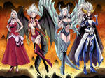 COMMISSION: Mirajane's demon forms by Shono