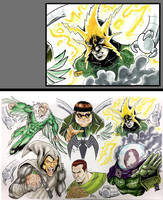 HeroesCon 2018 Sketch: Sinister Six by Shono