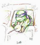 AWA 2018 Sketch: Donatello movie sketch by Shono