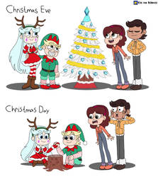 Moon and River's ways of celebrating Christmas by EricVonSchweetz